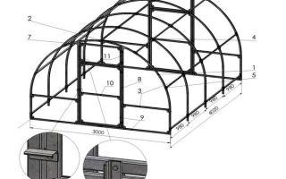 Каркас теплицы из профильной трубы: чертежи и особенности самостоятельного изготовления