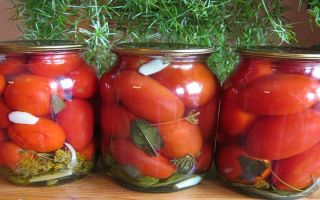 Рецепт консервированных помидоров пальчики